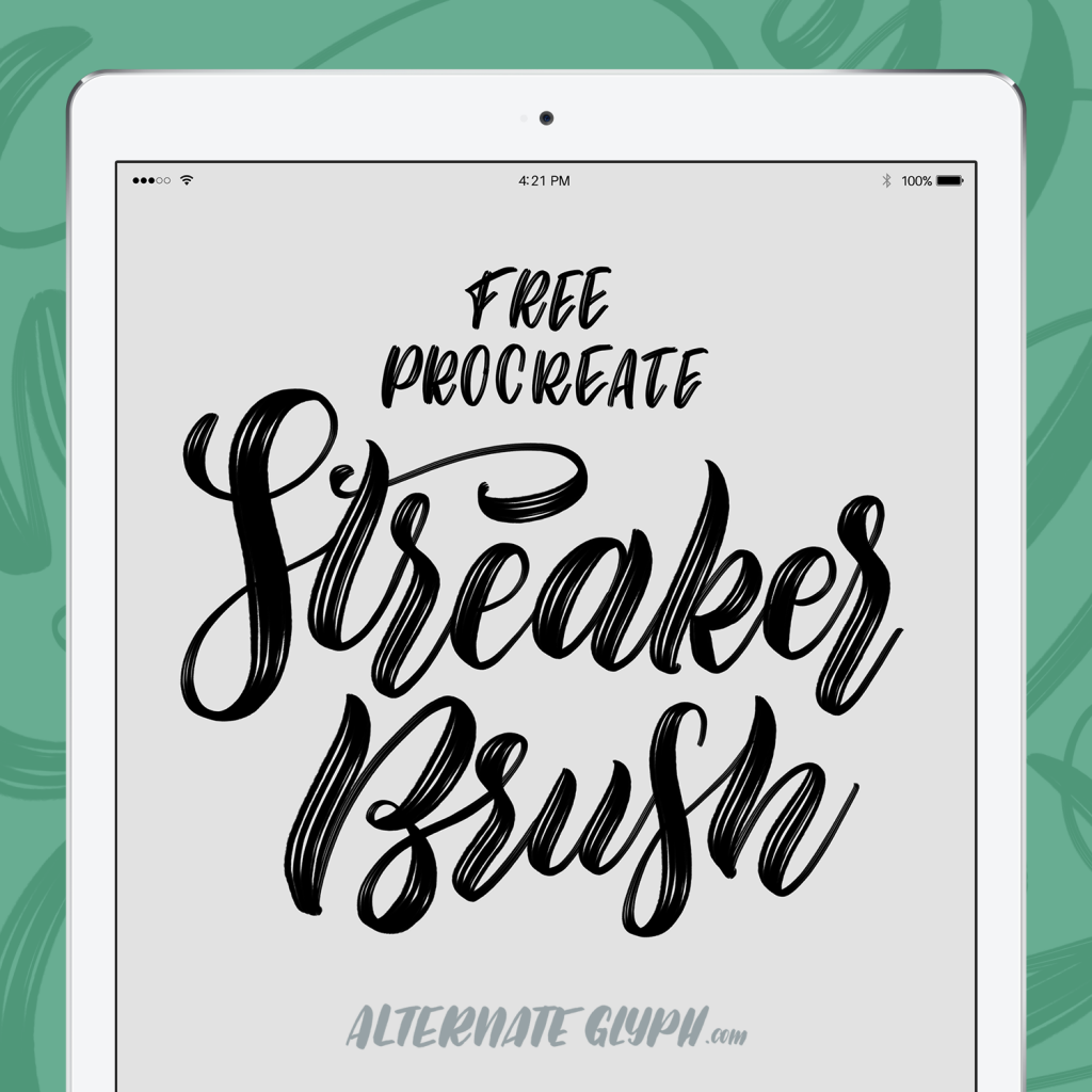 Free streaker brush for procreate calligraphy melissa cabral