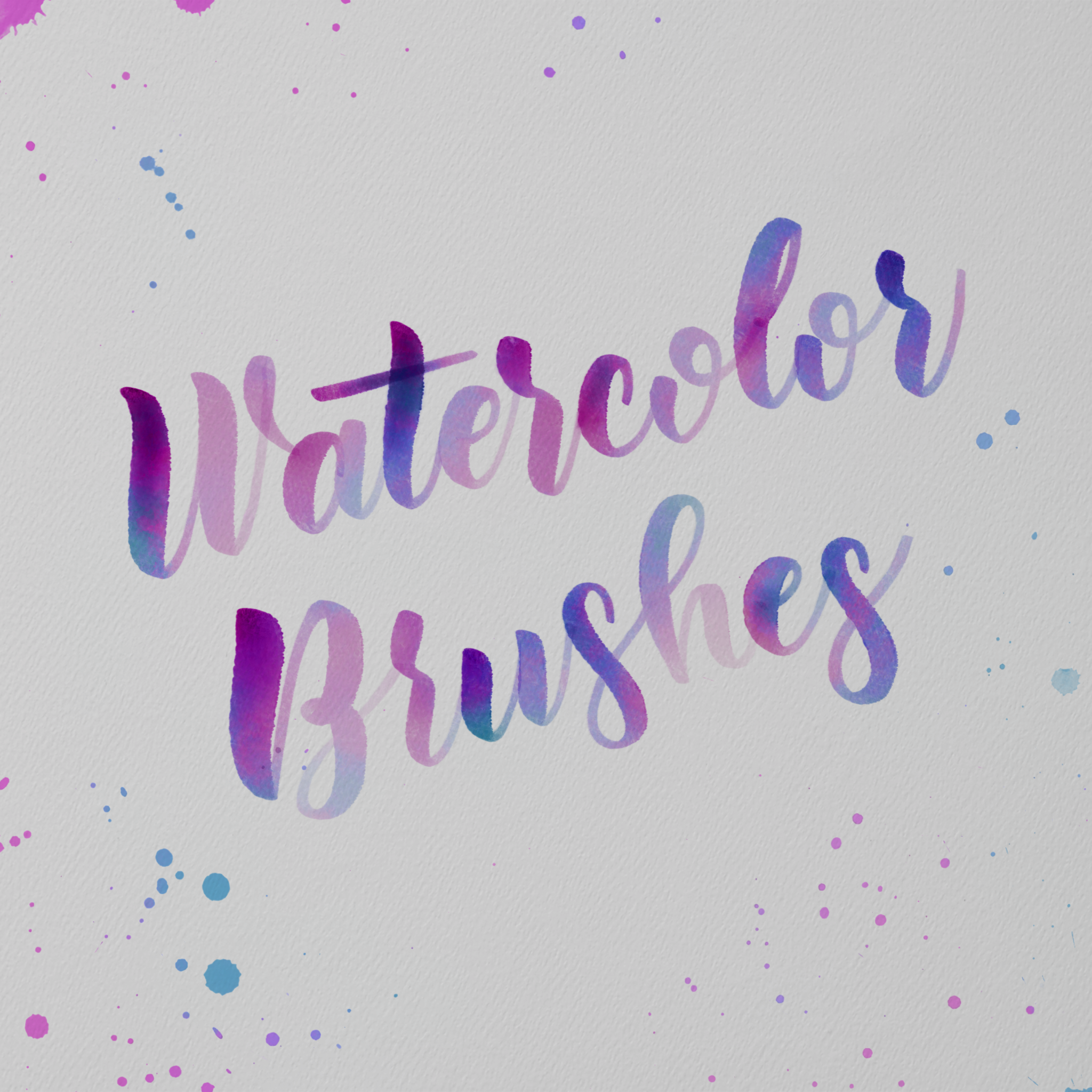 Watercolor calligraphy brushes for procreate melissa cabral